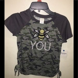 Bee You T-shirt with Embroidered Graphics NWT S
